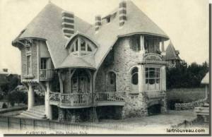 La Villa Surprise à Cabourg détruite en partie par l'occupant allemand puis achevée par un promoteur immobilier.